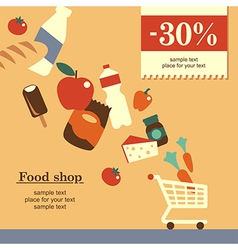 Food shop background yellow vector