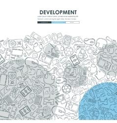 Gaming Doodle Website Template Design vector