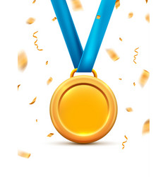 Gold medal for first winner prize vector