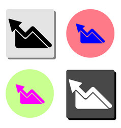 graph flat icon vector image