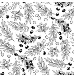 Graphic olive pattern vector