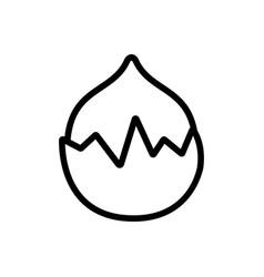 Hazelnut icon outline vector