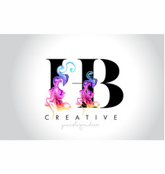 Hb vibrant creative leter logo design with vector