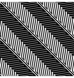 Herringbone Style Geometric Optical Black and vector image