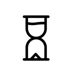 hourglass start icon vector image