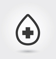 Icon blood medical line icon for any purposes vector