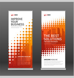 Industrial roll up banner design template vector