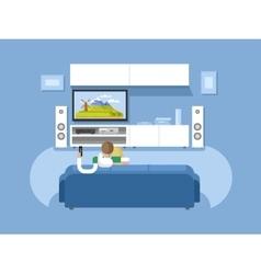 Interior home cinema vector image