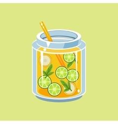 Jar Of Lemonade vector image