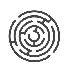 Labyrinth thin line icon vector