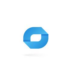 letter o logo on white alphabet background vector image