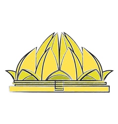 Lotus Temple vector image