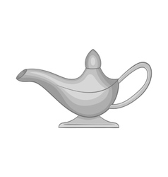 Magic lamp icon black monochrome style vector