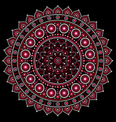 Mandala design aboriginal dot painting s vector