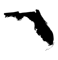 map of the US state of Florida vector image