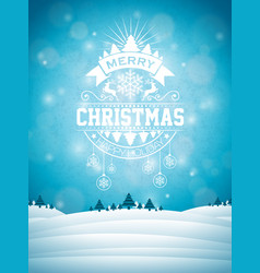 Merry christmas with typography vector