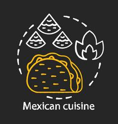 mexican cuisine chalk concept icon chili fast vector image