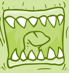Mouth monster vector