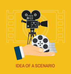 Movie making and premiere concept flat vector
