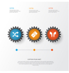 Multimedia icons set collection of controller vector
