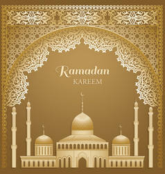 Muslim community festival card vector