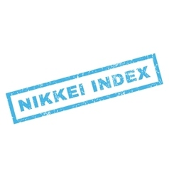 Nikkei Index Rubber Stamp vector