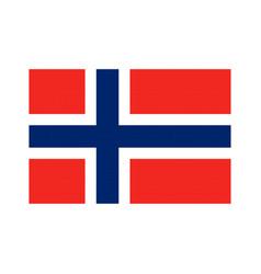 Norway flag pixel art cartoon retro game style vector