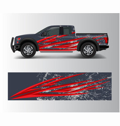offroad vehicle wrap design pickup truck decal vector image