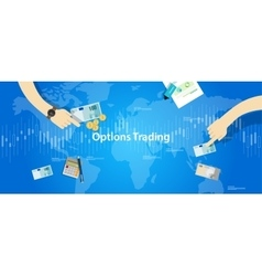 Options trading concept market vector