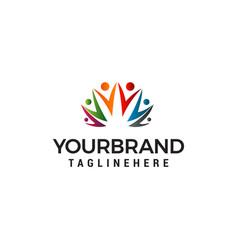 people community logo design concept template vector image