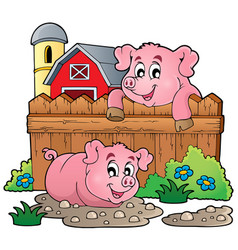 pig theme image 4 vector image