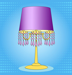 Pop art background interior object table lamp vector
