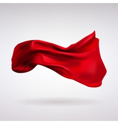 Red Satin Fabric Flying in the Wind vector