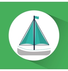 Sailboat ship nautical marine icon graphic vector