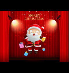 Santa claus merry christmas happy newyear on vector