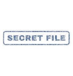 Secret file textile stamp vector