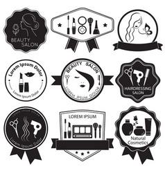 set beauty logo templates labels badges vector image