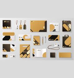 Set corporate identity branding mockup vector