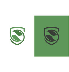 Shield green logo vector