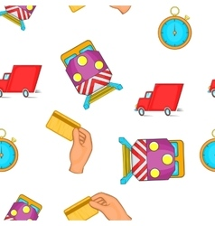 Shipment pattern cartoon style vector
