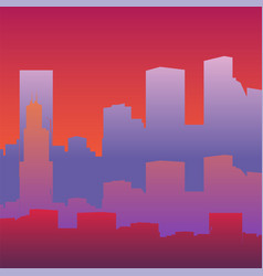 silhouette a big city vector image