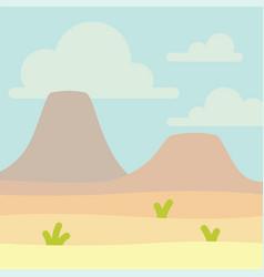 Soft nature landscape with blue sky desert vector