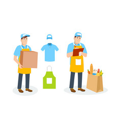 specialist shipping department branded clothing vector image