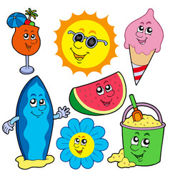 summer pictures collection vector image