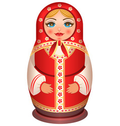 traditional national painted wooden of russian vector image