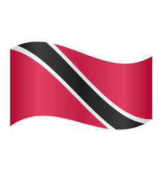 Trinidad and tobago flag waving white background vector