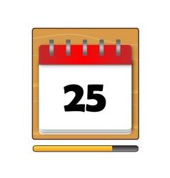 Twenty-five days on the calendar vector