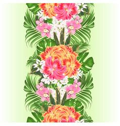 vertical border seamless background vector image