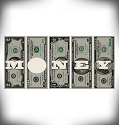 Vertical Money Bills vector