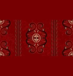 wallpaper in red and gold vector image